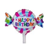 Candy happy birthday foil balloon