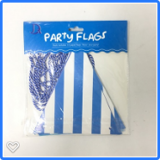 Patterned blue party flag bunting