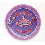 Jeweled princess paper plates 7