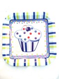 Blue cupcake paper plates 7