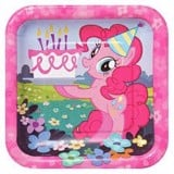 My Little Pony paper plate square 18cm 8/pack
