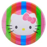 Hello Kitty paper plates 23cm 6/pack