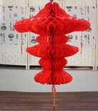 Honeycomb red Chinese lantern