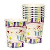 Blue cupcake paper cups 6/pack