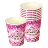 Jeweled princess paper cups 6/pack
