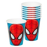Spiderman paper cups 8/pack