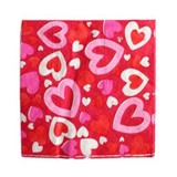 Bubble hearts paper napkins small
