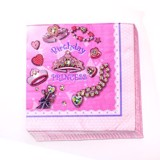 Jeweled princess paper napkins
