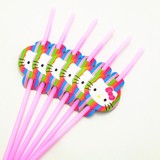 Hello Kitty drinking straws 6/pack