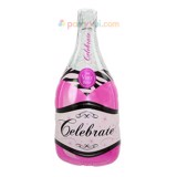 Champagne pink bottle balloon