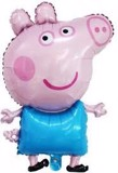 Peppa pig foil balloon (blue) - Size M