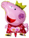 Peppa pig foil balloon (red) - size L