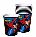 Superman paper cups 8/pack