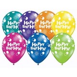 Happy birthday latex balloon multicolour 10 pcs