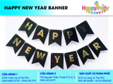 Dây cờ Happy New Year - HPNY bunting