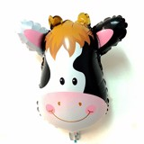 Cow face foil balloon