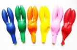 Multicolor rabbit-ears balloon (10 pcs/pack)