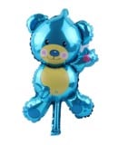 Blue bear foil balloon