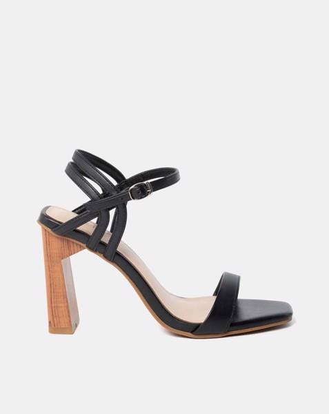 Giày sandal gót sơn giả gỗ