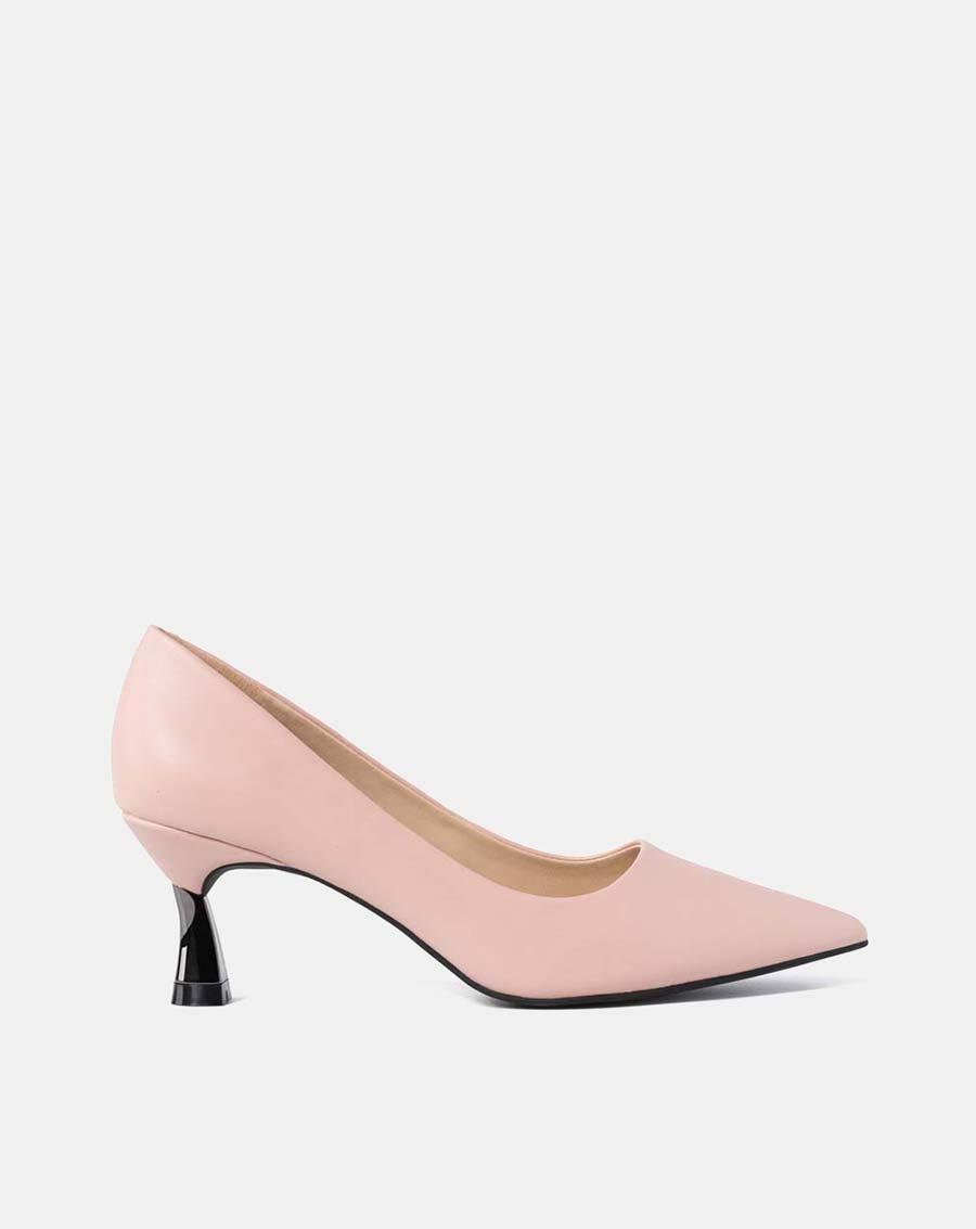 Giày cao gót mũi nhọn gót lượn