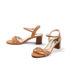Bird of paradise smooth mid-heel sandal SD05020 - Shades of love