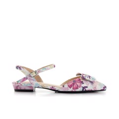 Cosmos flowers sling-back sandal with bow BB01119 - Shades of love