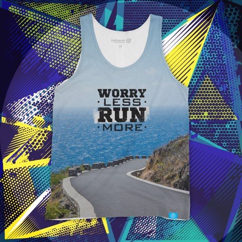 Worry Less Run More - Tank Top