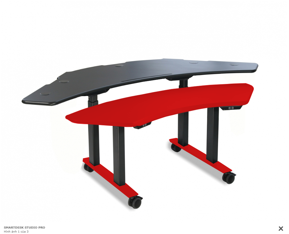 SMARTDESK STUDIO PRO RED BLACK
