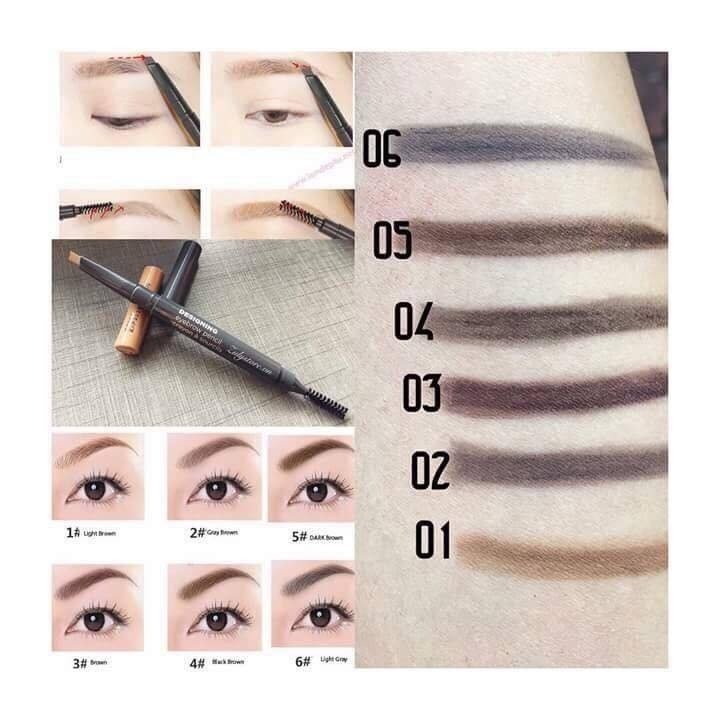 Best Seller Ch K My Ngang The Face Shop Designing Eyebrow Pencil
