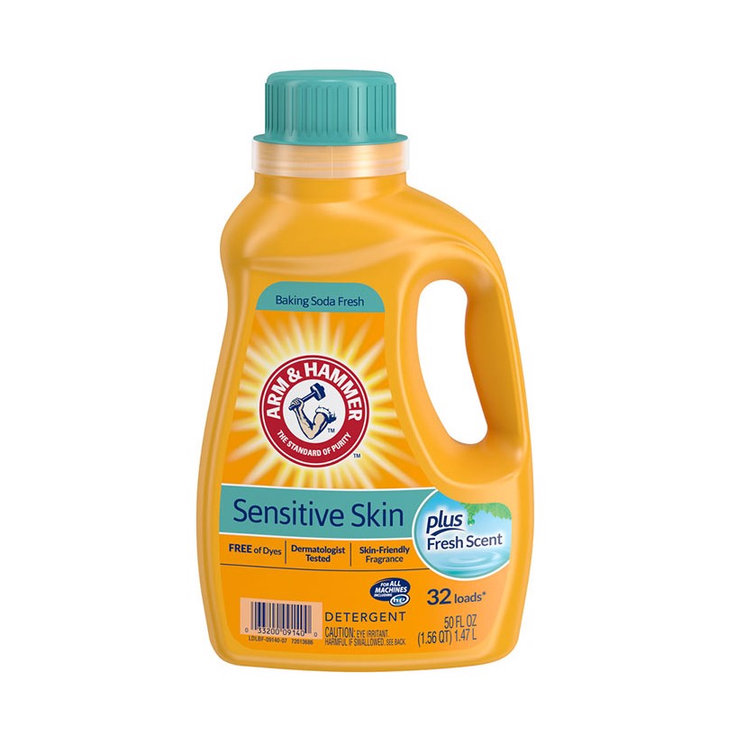 Nước giặt ARM & HAMMER Sensitive Skin Plus 1.47 lít