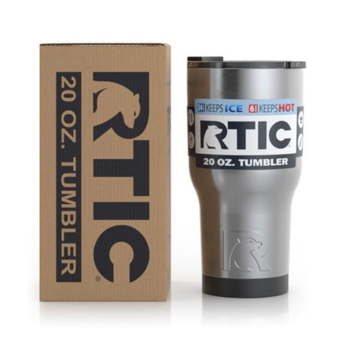 Ly giữ nhiệt RTIC Double Wall 20oz - Silver
