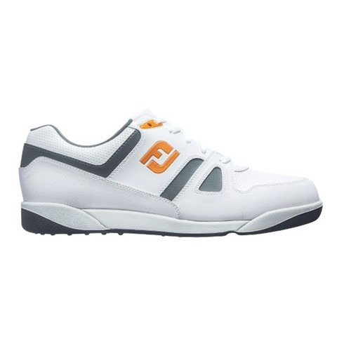 Giày Golf Nam GreenJoy FJ 45123 WHITE/CHARCOAL/ORANGE Extra Wide | FootJoy