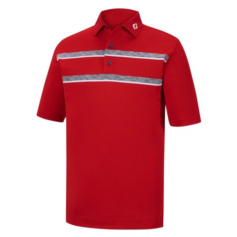Áo golf Space Dye Chest Stripes, Stretch Pique  Self Collar 32853 | FootJoy