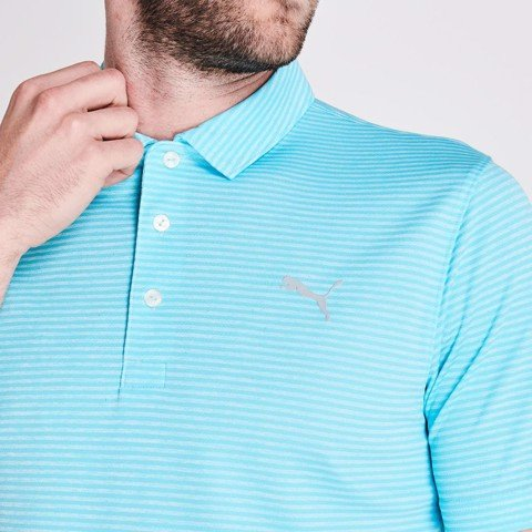 Áo thun golf Performance Stripe Polo Nrgy Turquoise H 579319 05 | Puma