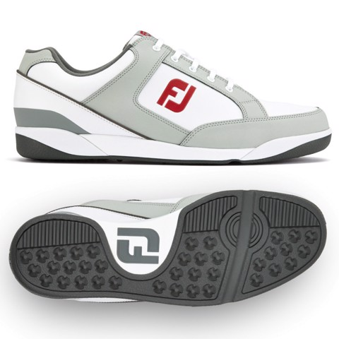 Giày golf nam FJ Originals 45348 WHITE/LIGHT GREY Extra Wide | FootJoy