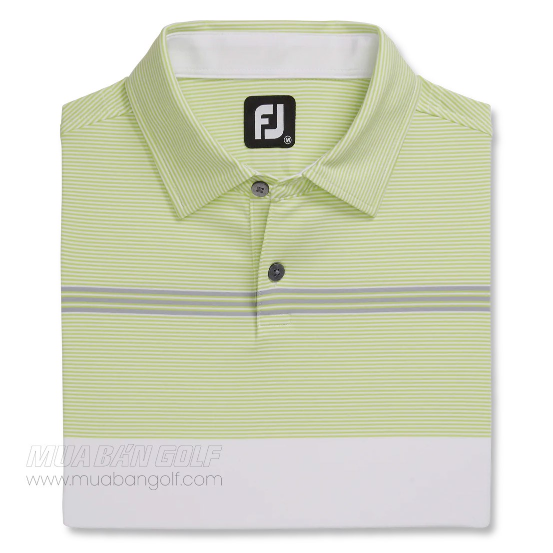 Áo golf nam tay ngắn Lisle Engineered Pinstripe White 82592 | FootJoy
