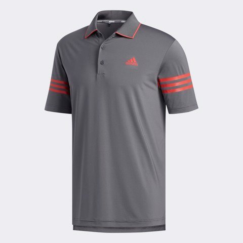 Áo golf nam tay ngắn GREY FIVE / REAL CORAL FJ9941 | Adidas
