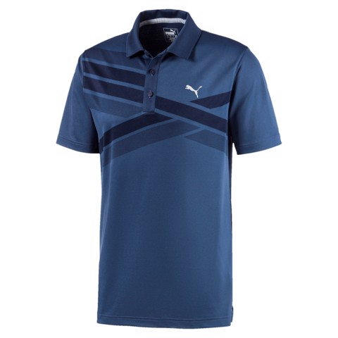 Áo thun golf Alterknit Texture Polo-Peacoat 597119 04 | Puma