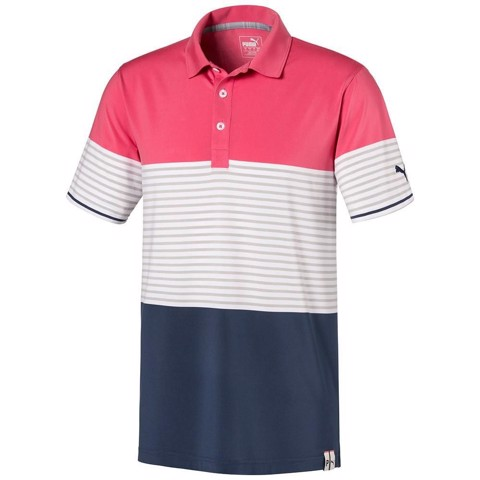 Áo thun golf Cloudspun Taylor Polo - Rapture Rose 595789 05 | Puma