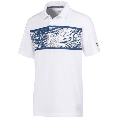 Áo thun golf Palms Polo-B.Wht/D.Denim 596376 01 | Puma