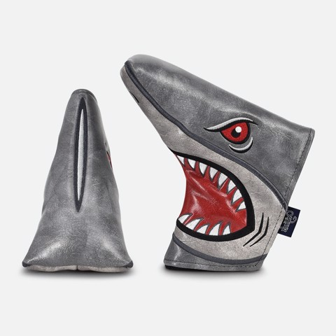 Cover gậy golf Putter Shark Attack Blade Cover, Grey | PRG Originals