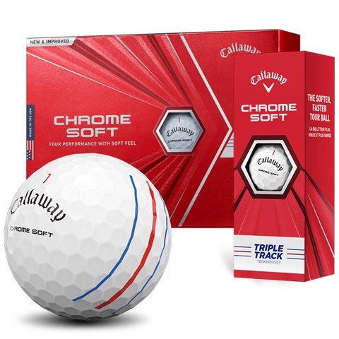 Bóng golf Chrome Soft Triple Track 2020 | Callaway