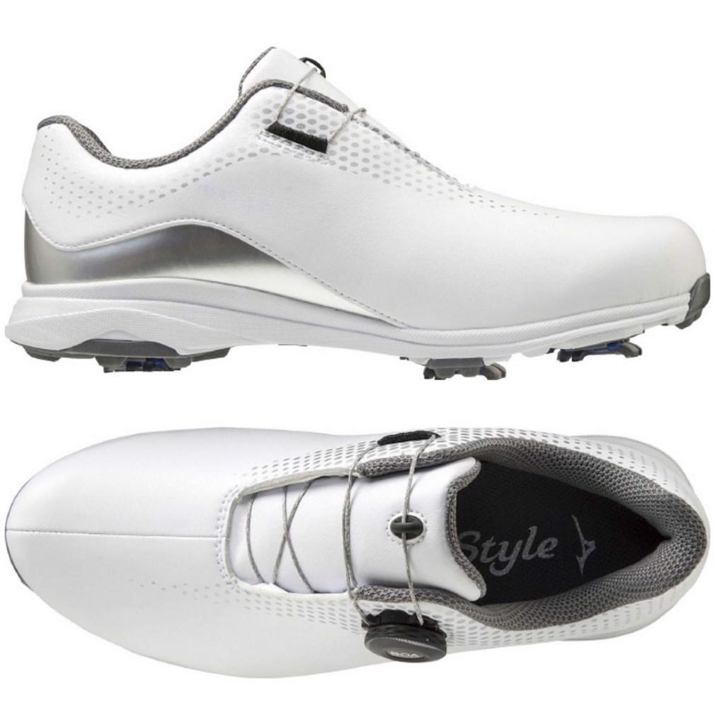 Giày golf nữ WIDE STYLE 002 BOA Spiked LADIES 51GW204003 | Mizuno