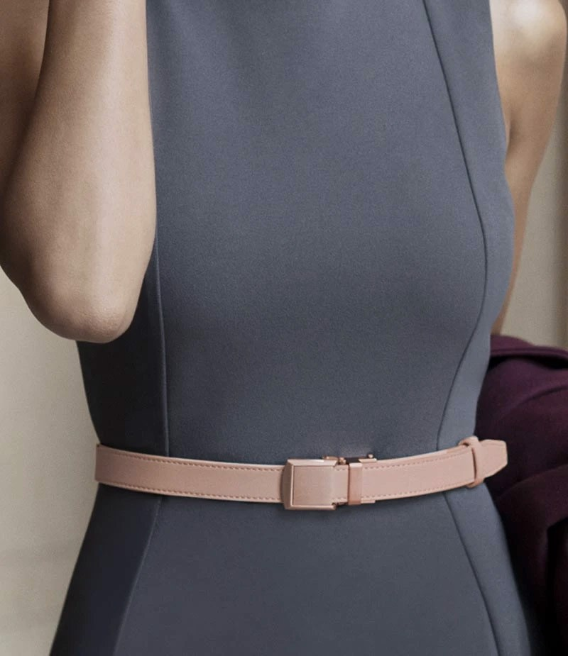 Thắt lưng nữ Skinny Blush Belt with Sliver Buckle 2.2cm  | SLIDEBELTS