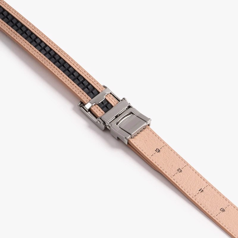 Thắt lưng golf da nữ Skinny Blush Belt with Sliver Buckle 2.2cm