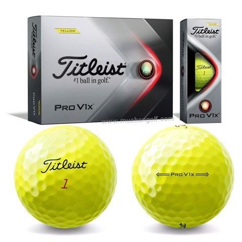 Hộp 12 bóng golf Pro V1x 2021 Yellow T2147S | Titleist