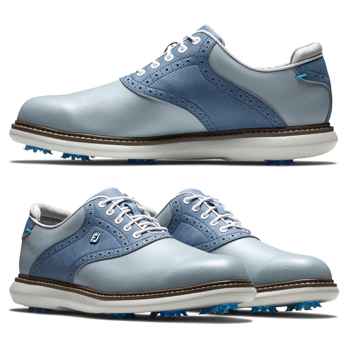 Giày golf nam Traditions 57902 Extra Wide, Spiked, Xám Navi | FootJoy