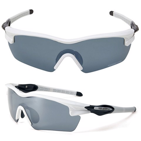 Kính Polarized UV400 048P WHITE/BLACK | FeelMorys