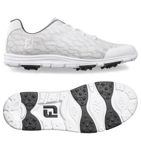 Giày golf nữ IF ENJOY WHITE/GREY TRIM 95712 Wide | FootJoy