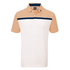 Áo golf Stretch Lisle Eng.Stripe w/Striped Self Collar 22456 | FootJoy